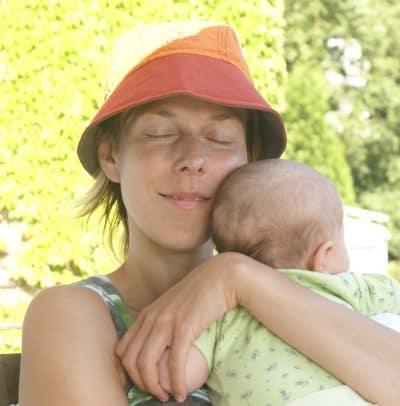 Yvonne mit Baby